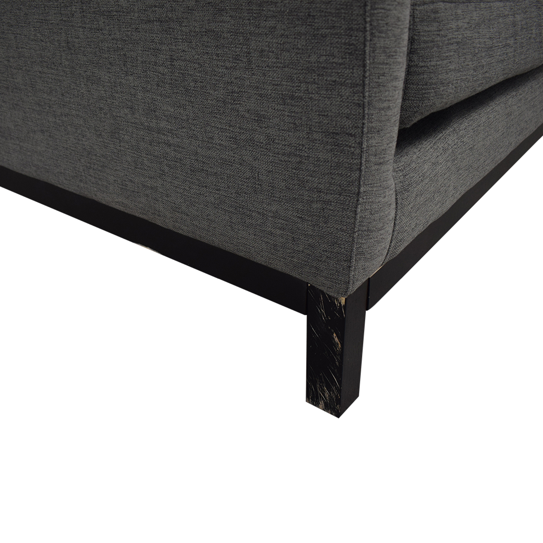 Jasper Cross Weave Mushroom Single-Cushion Sofa Sofas