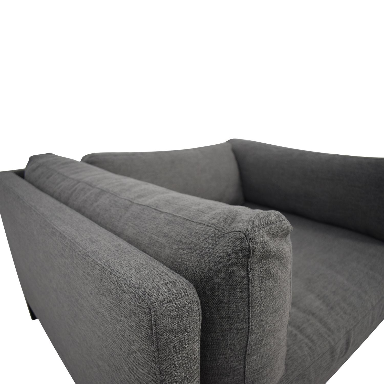 Jasper Cross Weave Mushroom Single-Cushion Sofa coupon