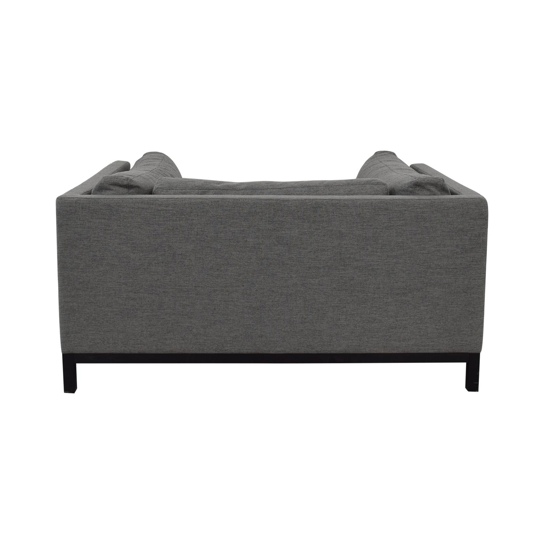 buy Jasper Cross Weave Mushroom Single-Cushion Sofa  Sofas