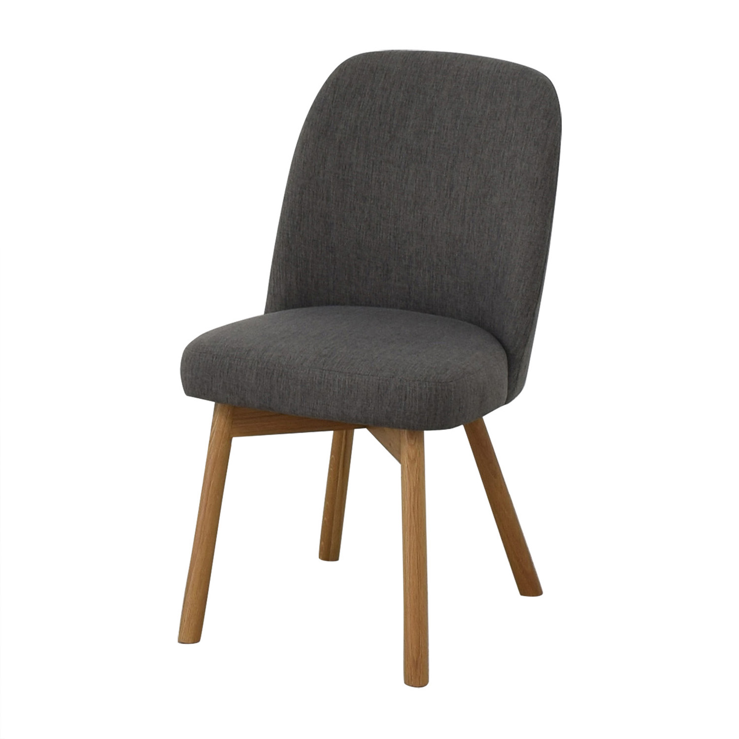 Interior Define Dylan Cross Weave Mushroom Dining Chair dimensions