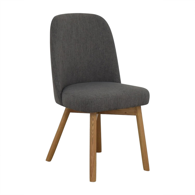buy Interior Define Dylan Cross Weave Mushroom Dining Chair online