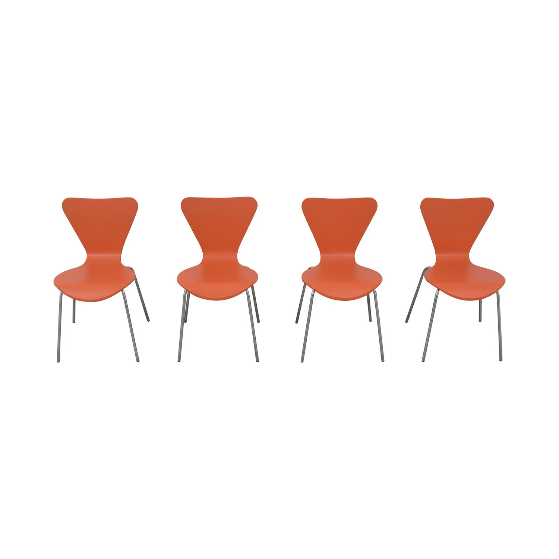 Room & Board Room & Board Orange Chairs