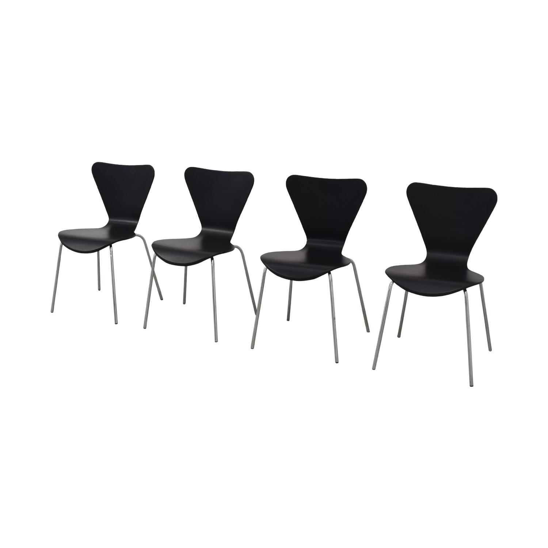 Room & Board Room & Board Black Chairs used