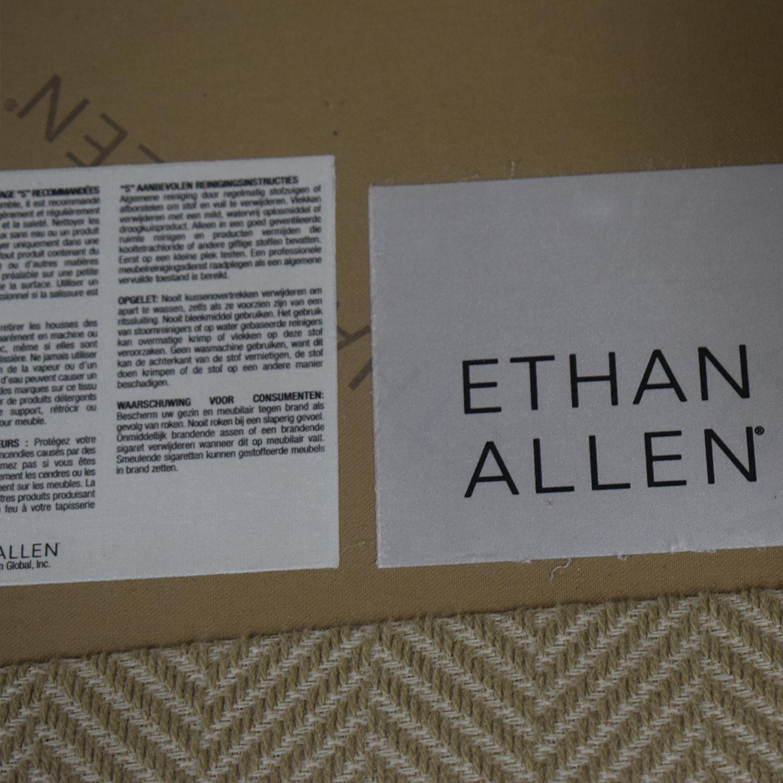 Ethan Allen Beige Three-Cushion Couch Ethan Allen