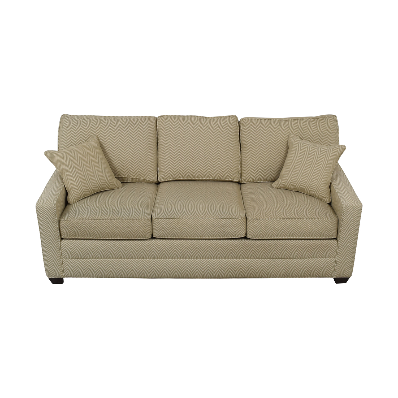 shop Ethan Allen Beige Three-Cushion Couch Ethan Allen Classic Sofas