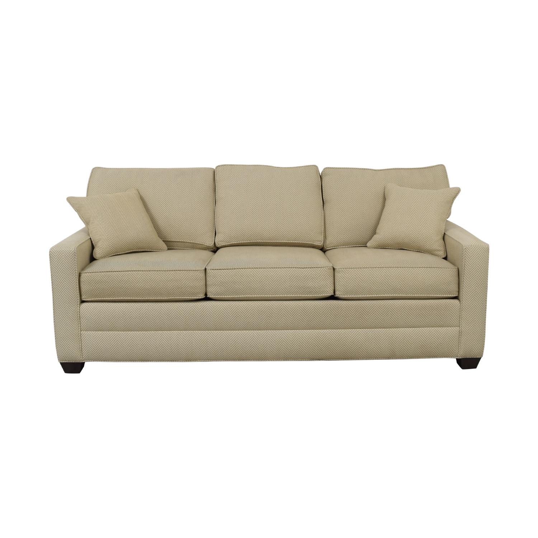 Ethan Allen Ethan Allen Beige Three-Cushion Couch price