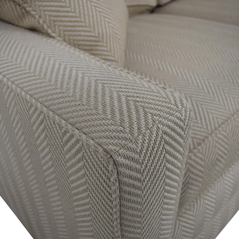 Ethan Allen Ethan Allen Beige Three-Cushion Couch second hand
