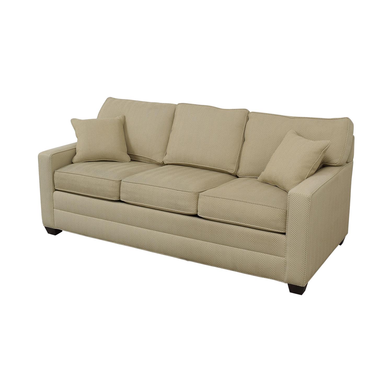 Ethan Allen Ethan Allen Beige Three-Cushion Couch on sale