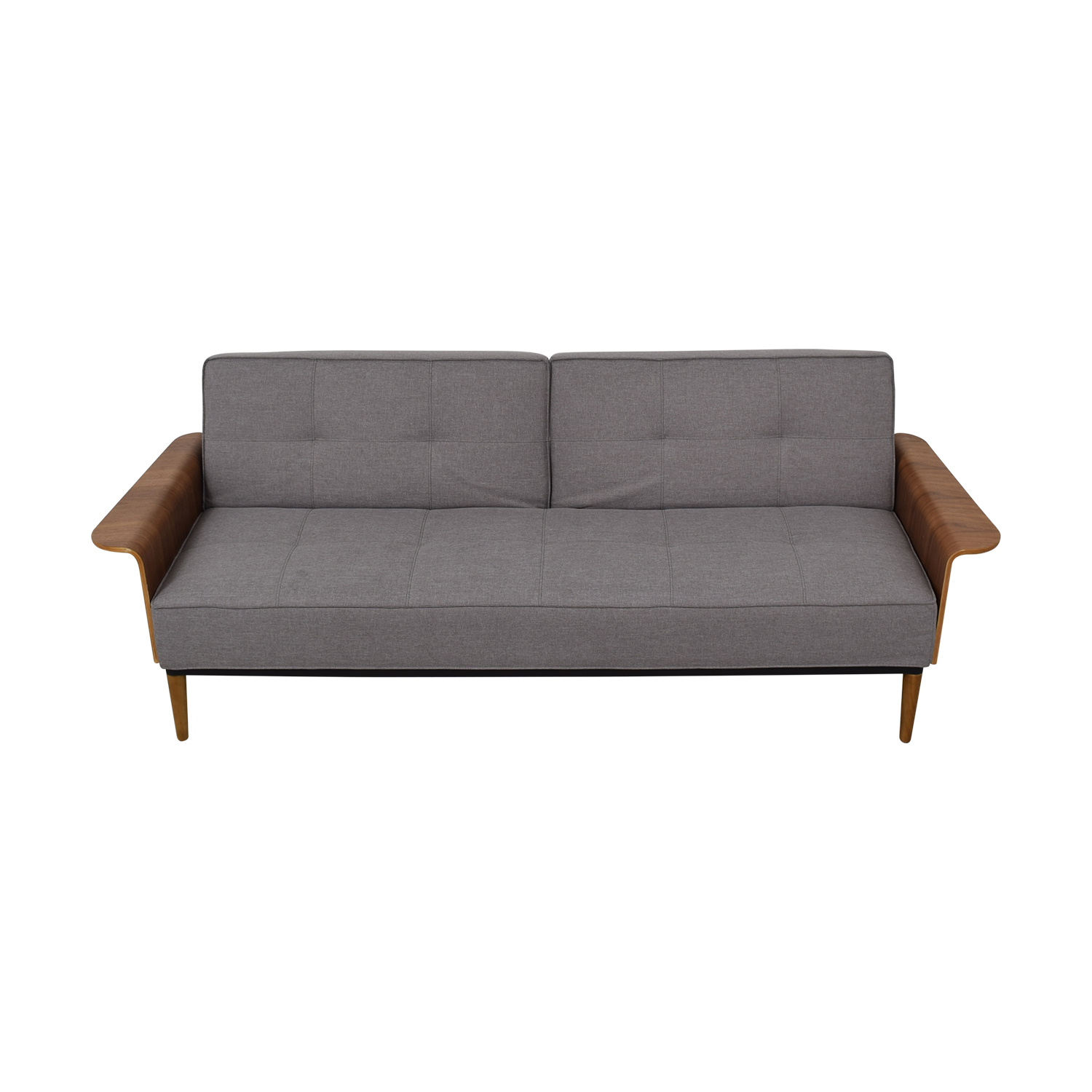 Inmod Bjorg Grey Tufted Twin Sofa Bed / Classic Sofas