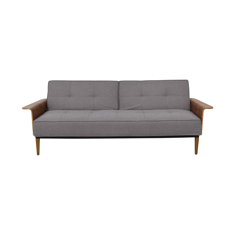 Inmod Bjorg Grey Tufted Twin Sofa Bed Inmod
