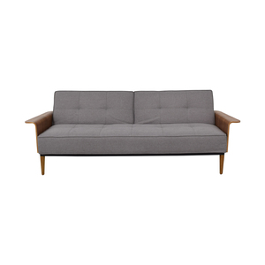 Inmod Bjorg Grey Tufted Twin Sofa Bed / Sofas