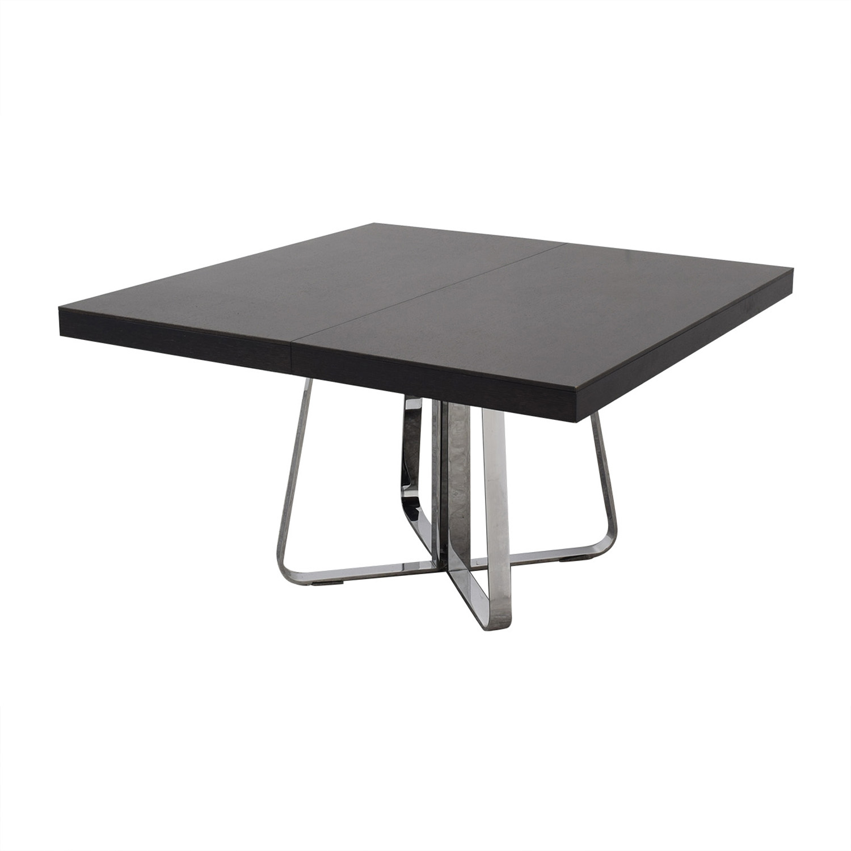 Ligne Roset Ligne Roset Ava Extendable Dining Table espresso/chrome