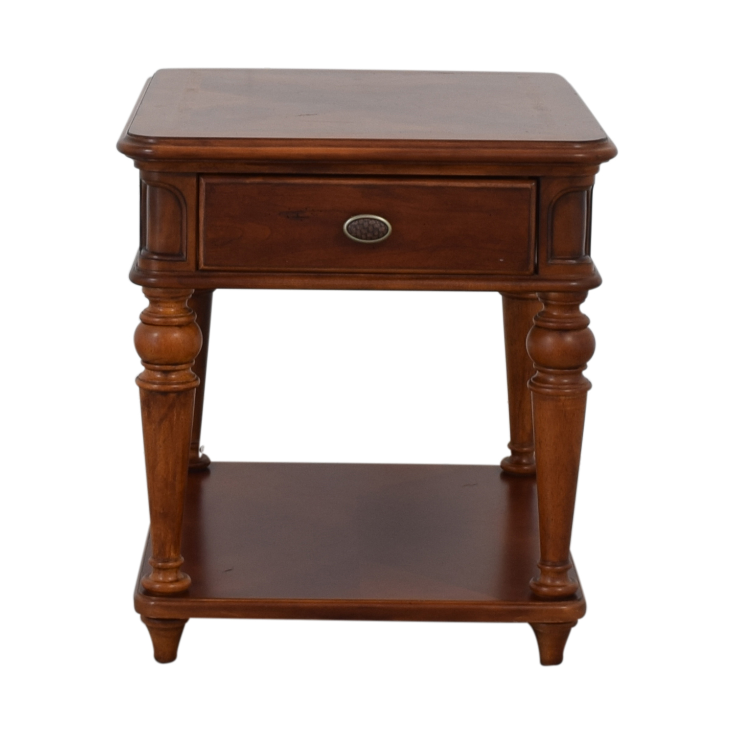Raymour & Flanigan Raymour & Flanigan Brownstone Single Drawer End Table End Tables