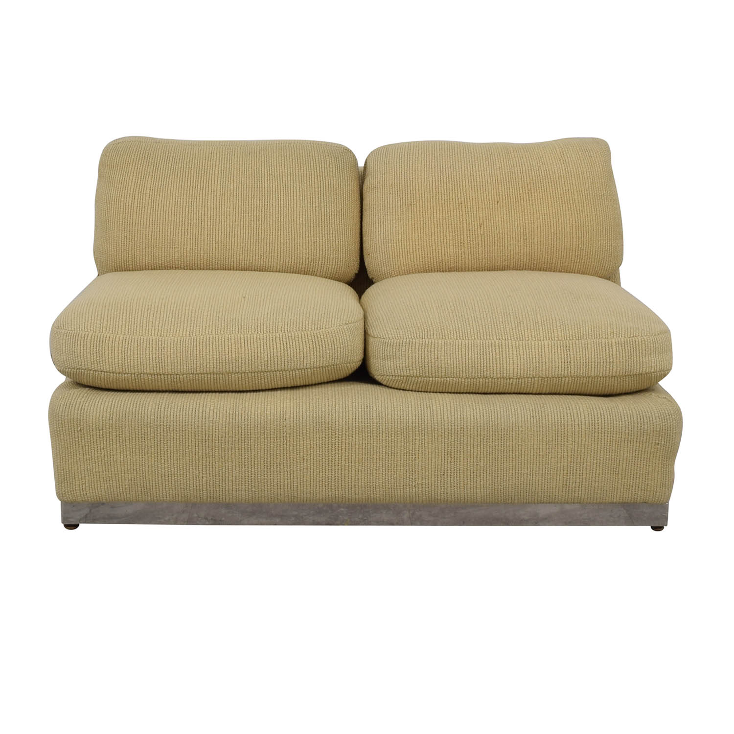 shop Armless Beige Loveseat  Sofas