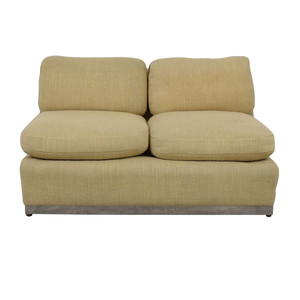 Armless Beige Loveseat coupon