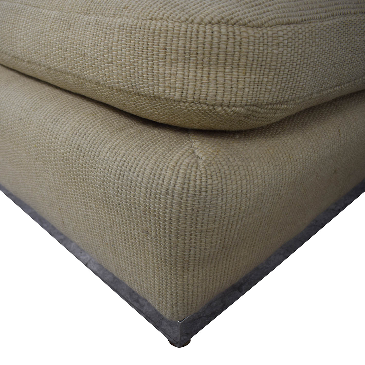 Armless Beige Loveseat for sale