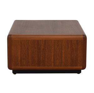 Wood Rectangular End Table second hand