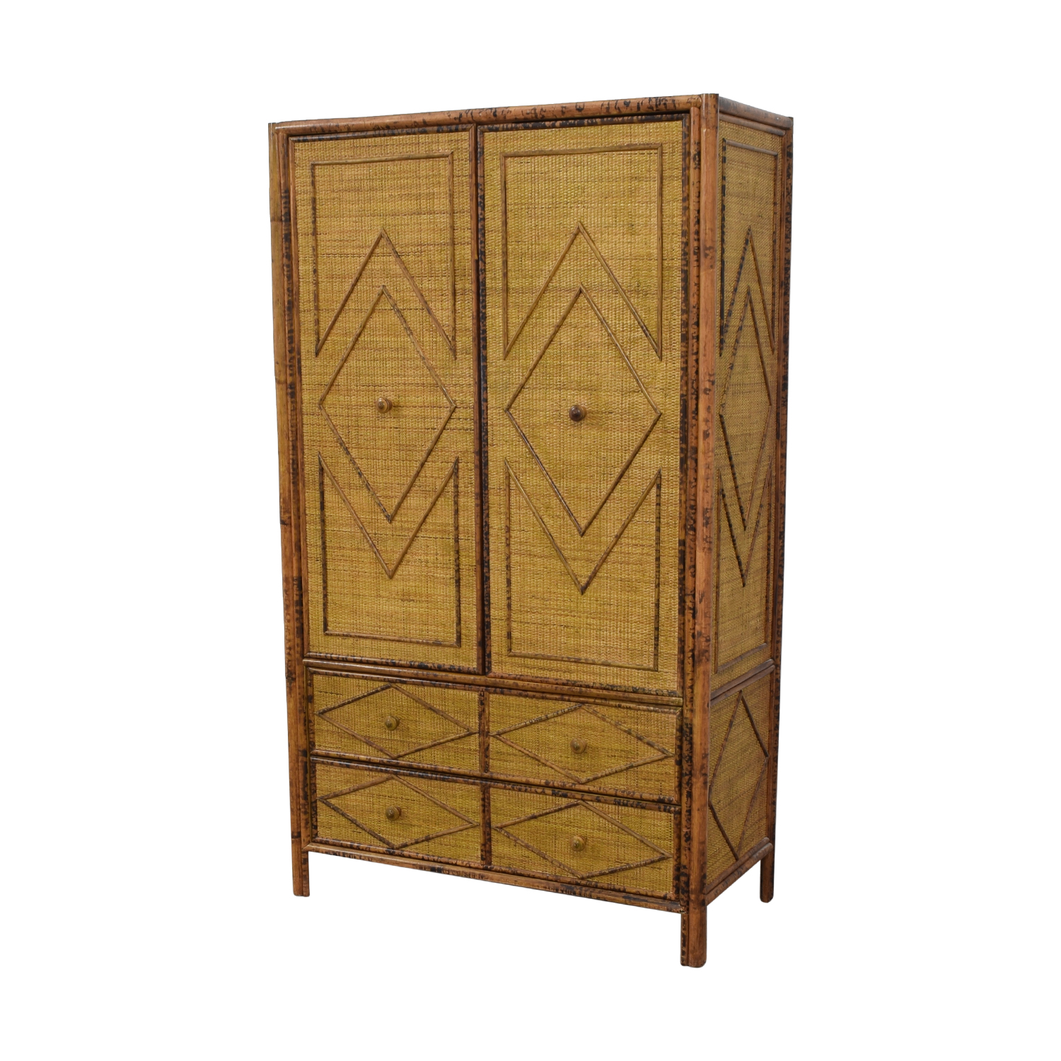 Wicker Four-Drawer Armoire / Wardrobes & Armoires