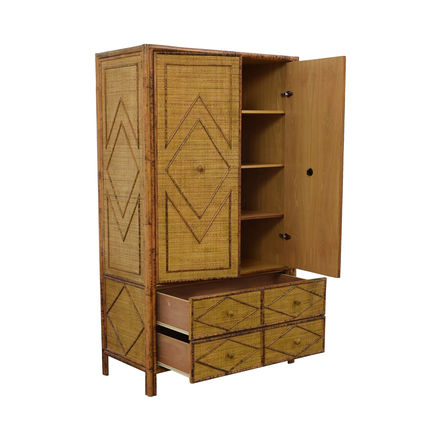 shop Wicker Four-Drawer Armoire