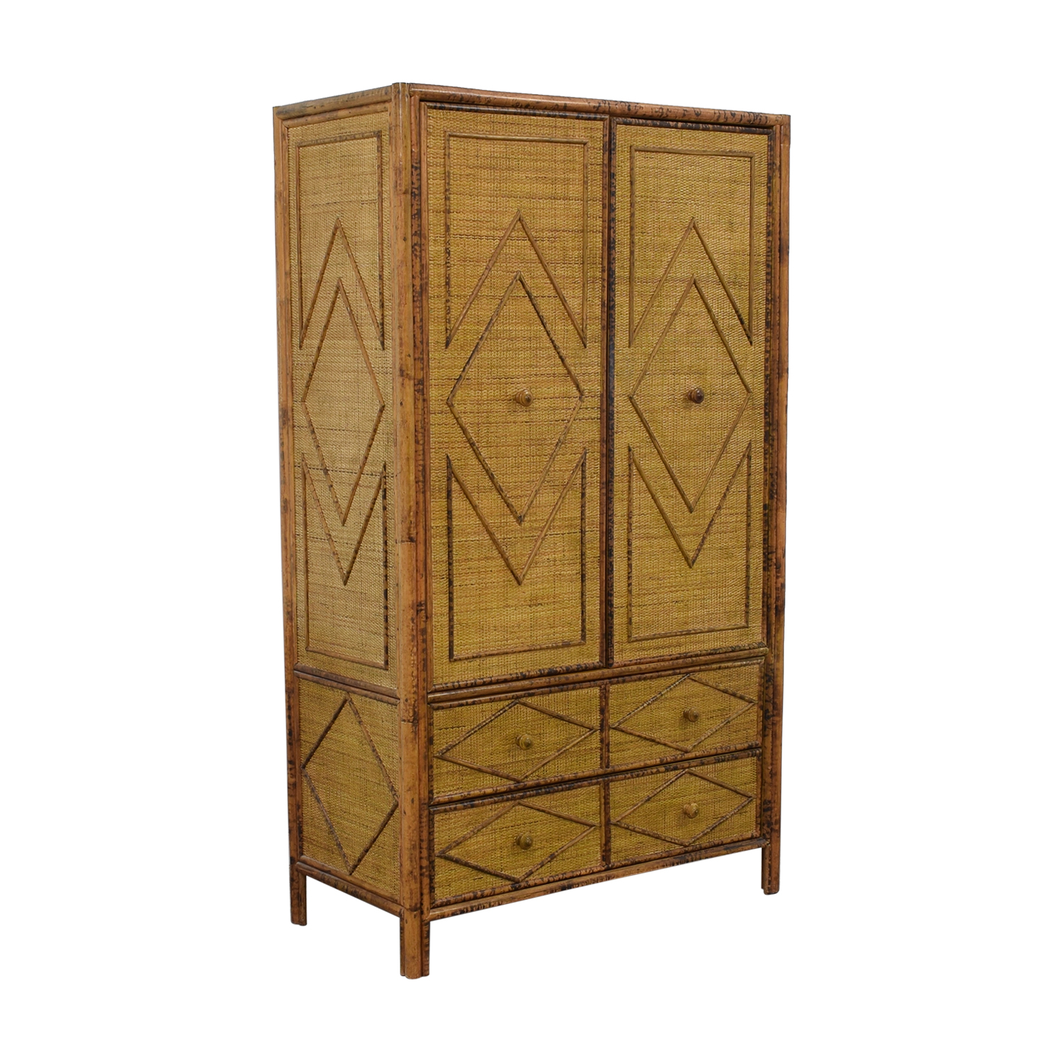 buy Wicker Four-Drawer Armoire  Wardrobes & Armoires