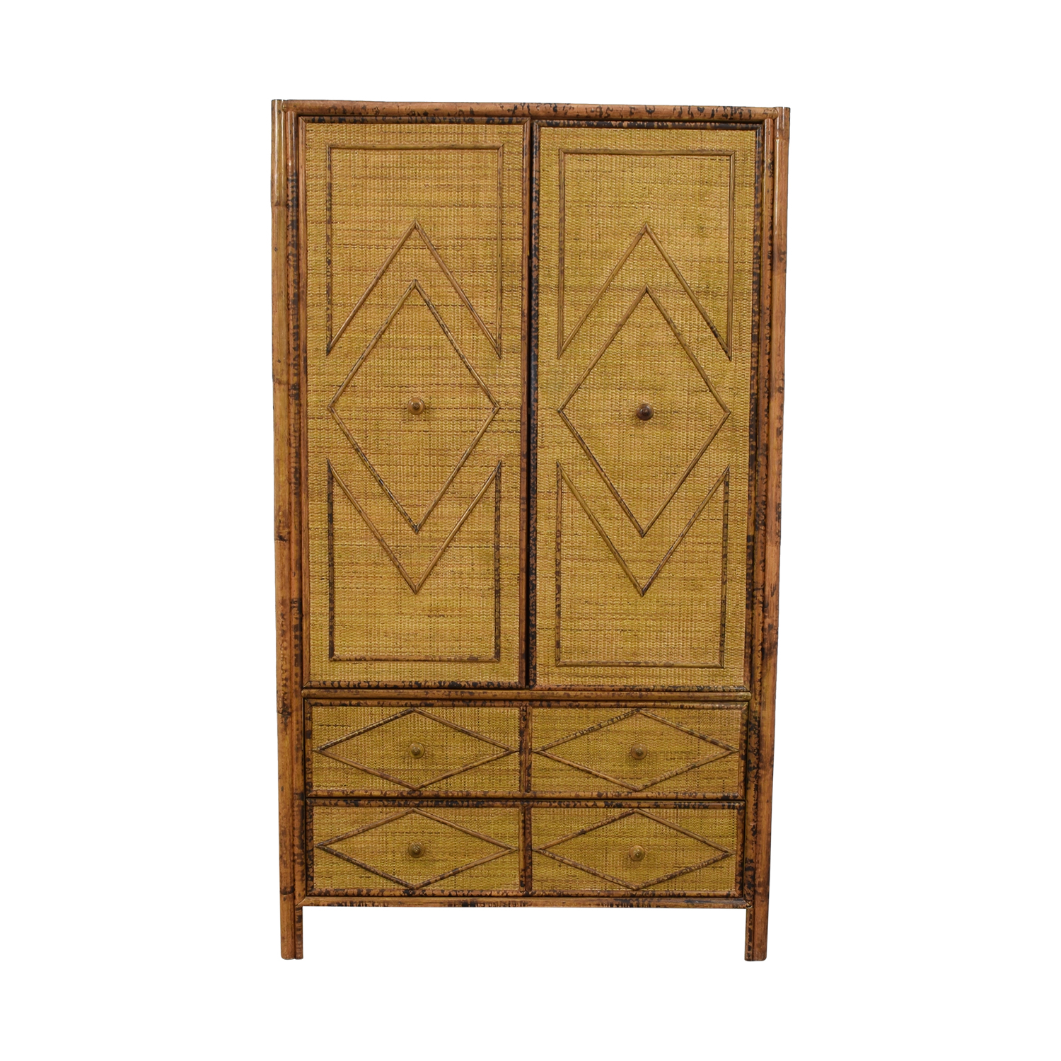 Wicker Four-Drawer Armoire dimensions