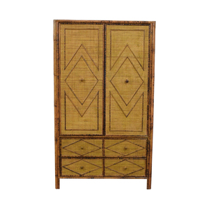 Wicker Four-Drawer Armoire nyc