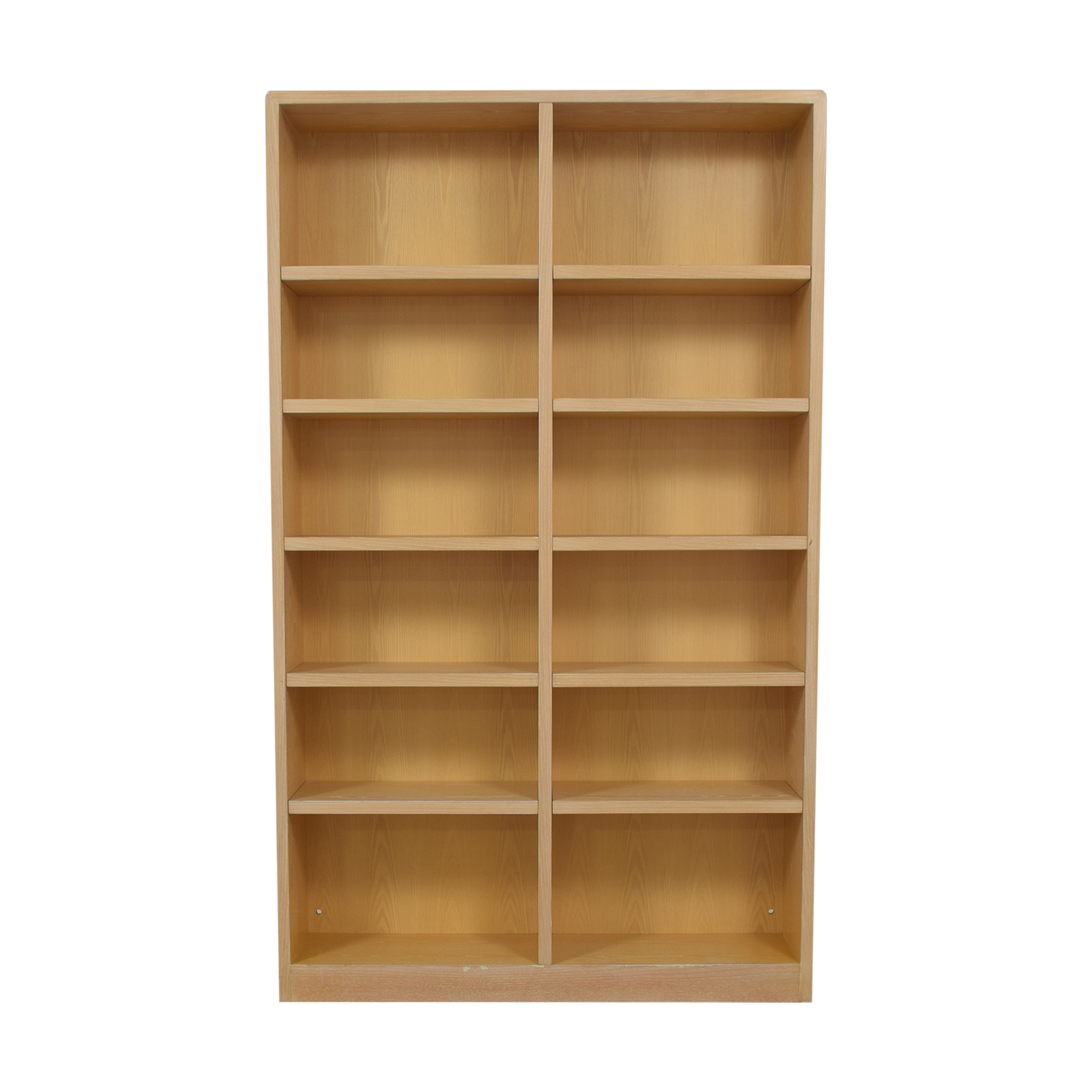 Twelve Shelf Double Bookcase dimensions