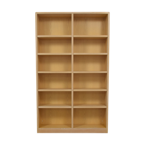 Twelve Shelf Double Bookcase / Storage