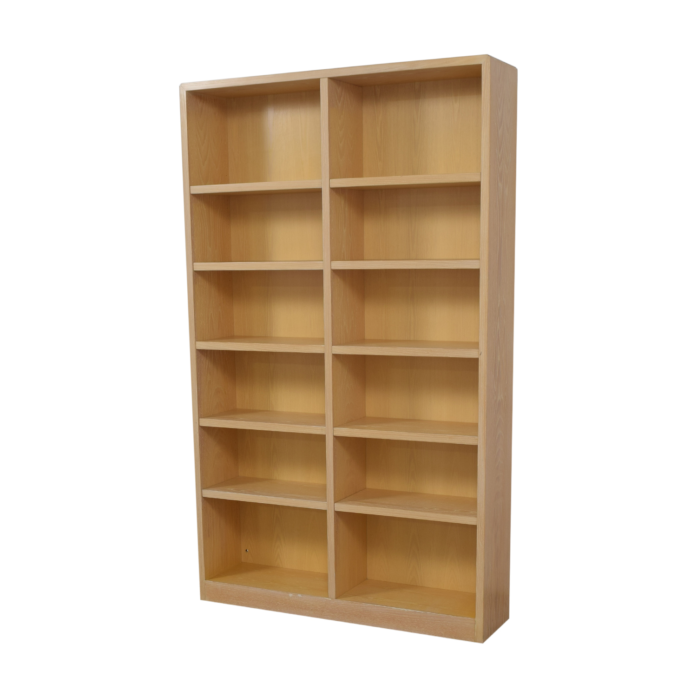 shop Twelve Shelf Double Bookcase  Bookcases & Shelving