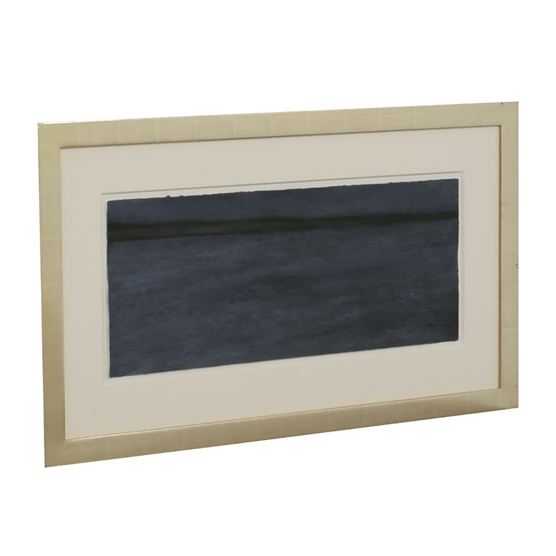 Dark Blue Painting in Gold Leaf Frame