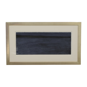 Dark Blue Wall Art in Gold Leaf Frame for sale