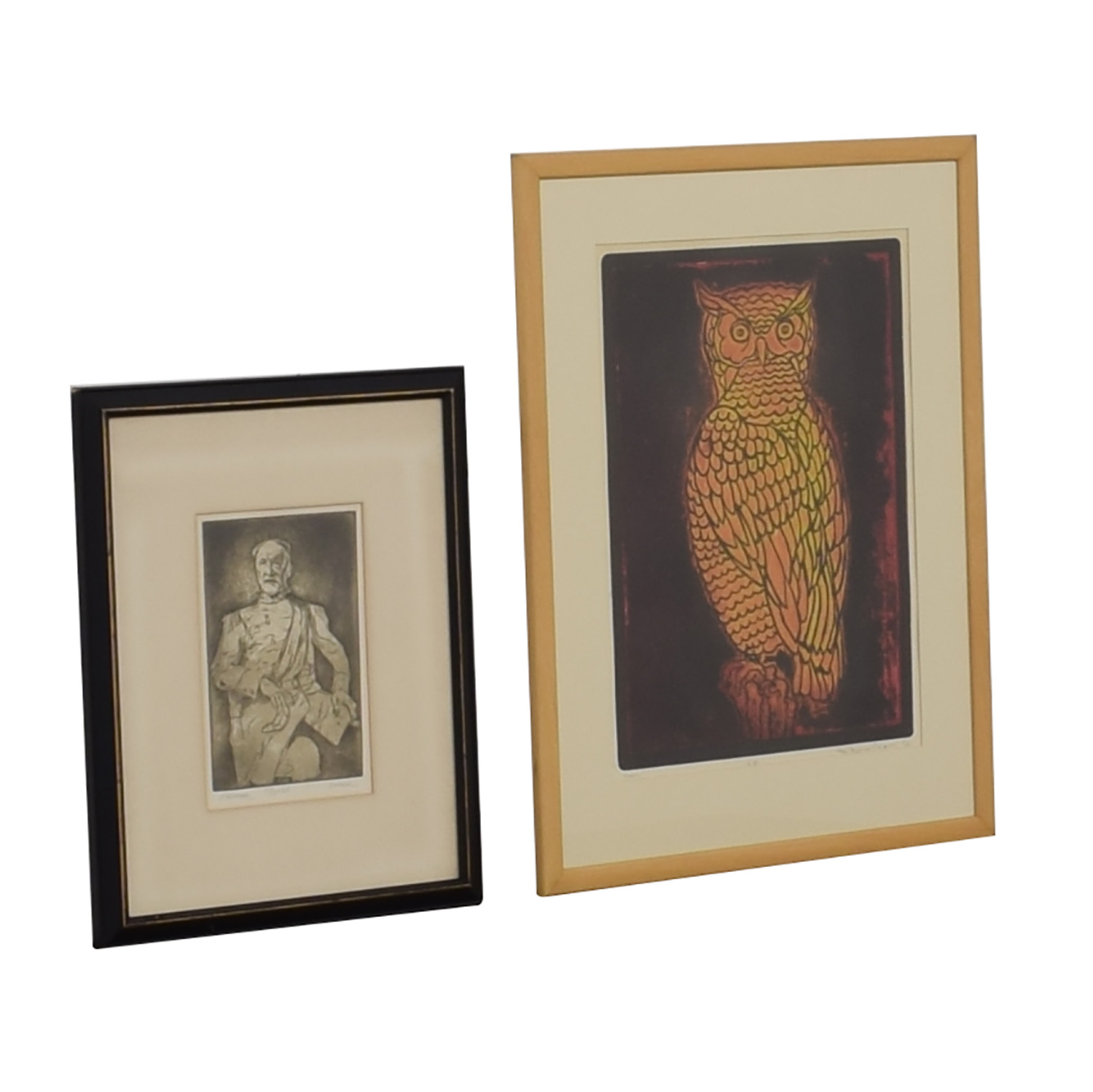 Owl and General Signed Wall Art discount