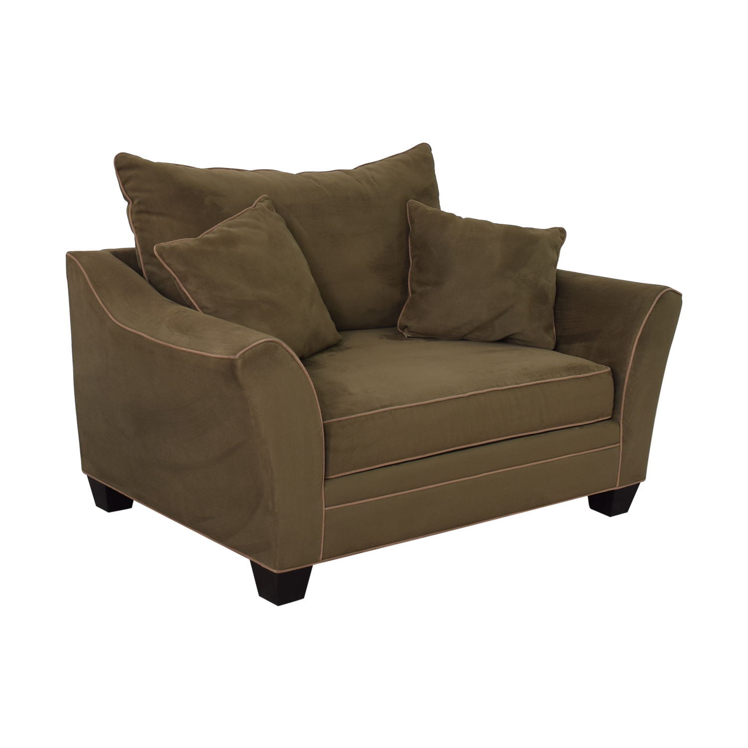 shop Raymour & Flanigan Briarwood Microfiber Chair-and-a-Half Raymour & Flanigan Chairs