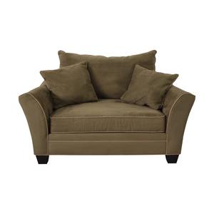 Raymour & Flanigan Raymour & Flanigan Briarwood Microfiber Chair-and-a-Half for sale