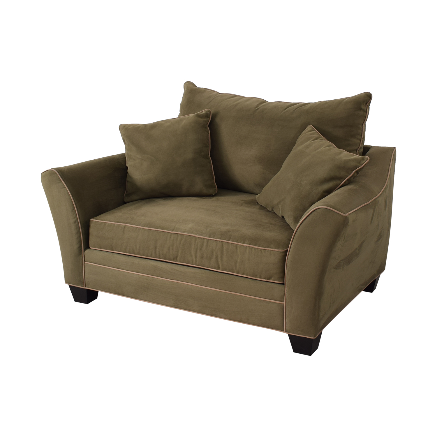 Raymour Flanigan Briarwood Microfiber Chair And A Half