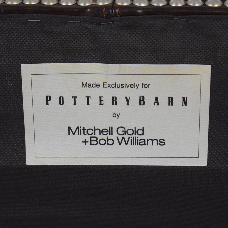 Pottery Barn Pottery Barn Mitchell Gold + Bob Williams Brown Nailhead Ottoman coupon