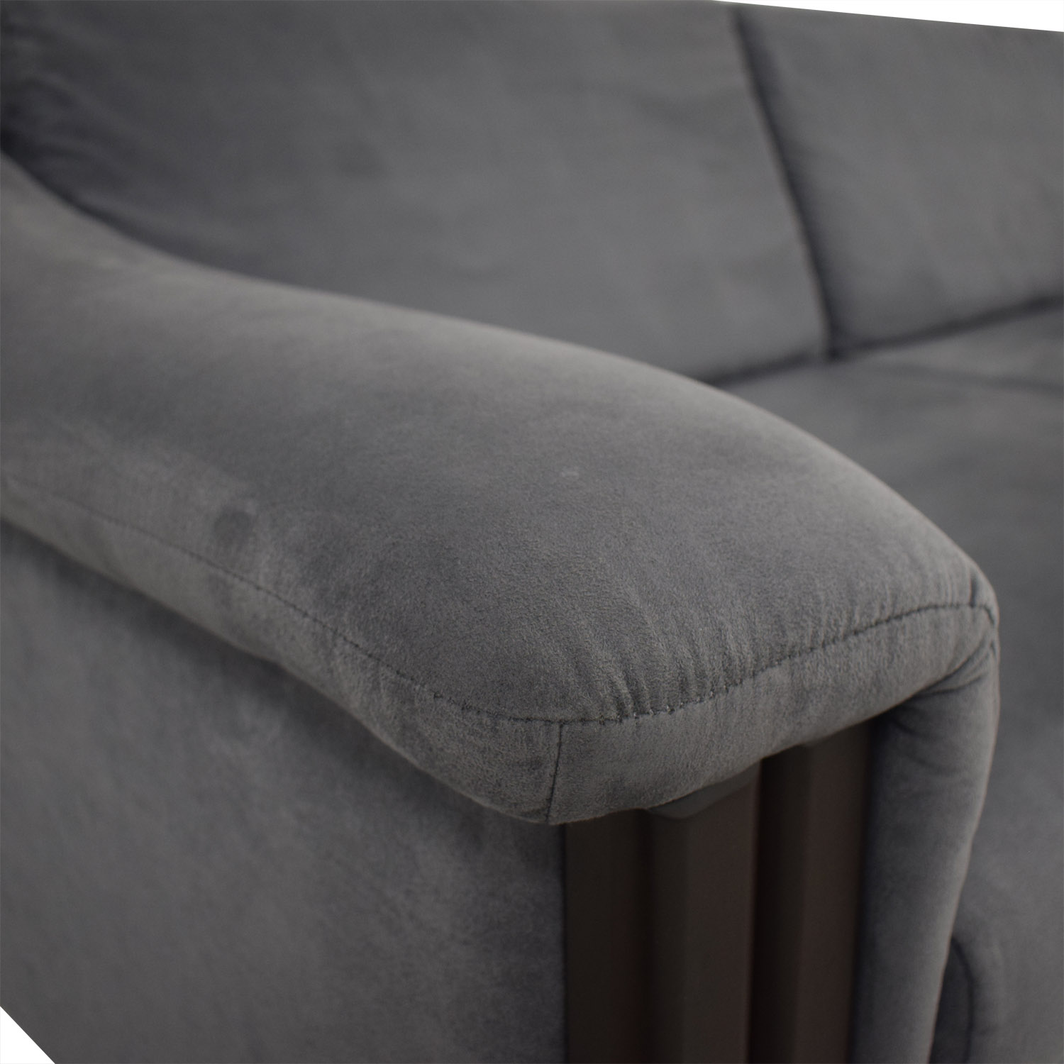 buy Charcoal Micro Suede Three-Cushion Sofa Bed  Sofas