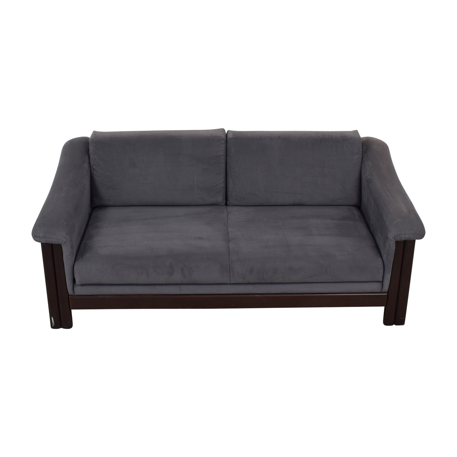 Charcoal Micro Suede Three Cushion Sofa Bed Gray