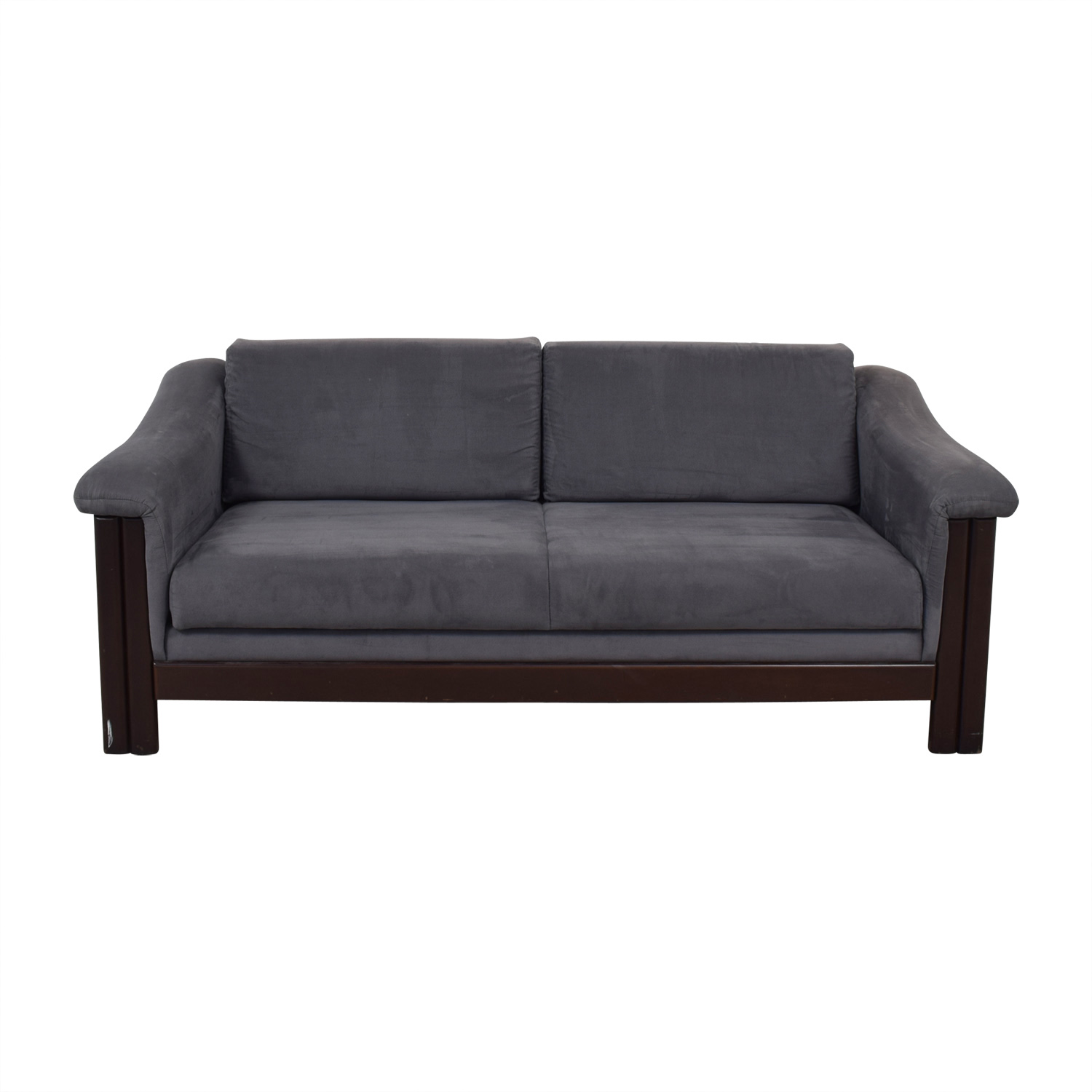 Charcoal Micro Suede Three-Cushion Sofa Bed dimensions