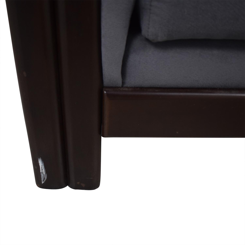Charcoal Micro Suede Three-Cushion Sofa Bed sale