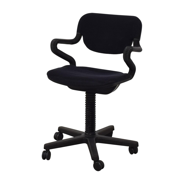 Vintage Black Desk Arm Chair dimensions