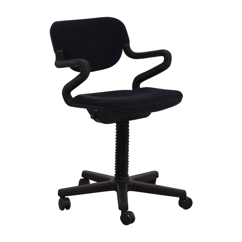 Vintage Black Desk Arm Chair nyc