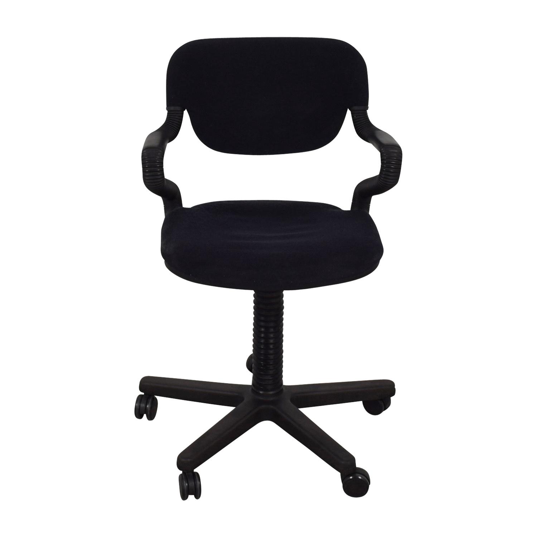 Vintage Black Desk Arm Chair Chairs