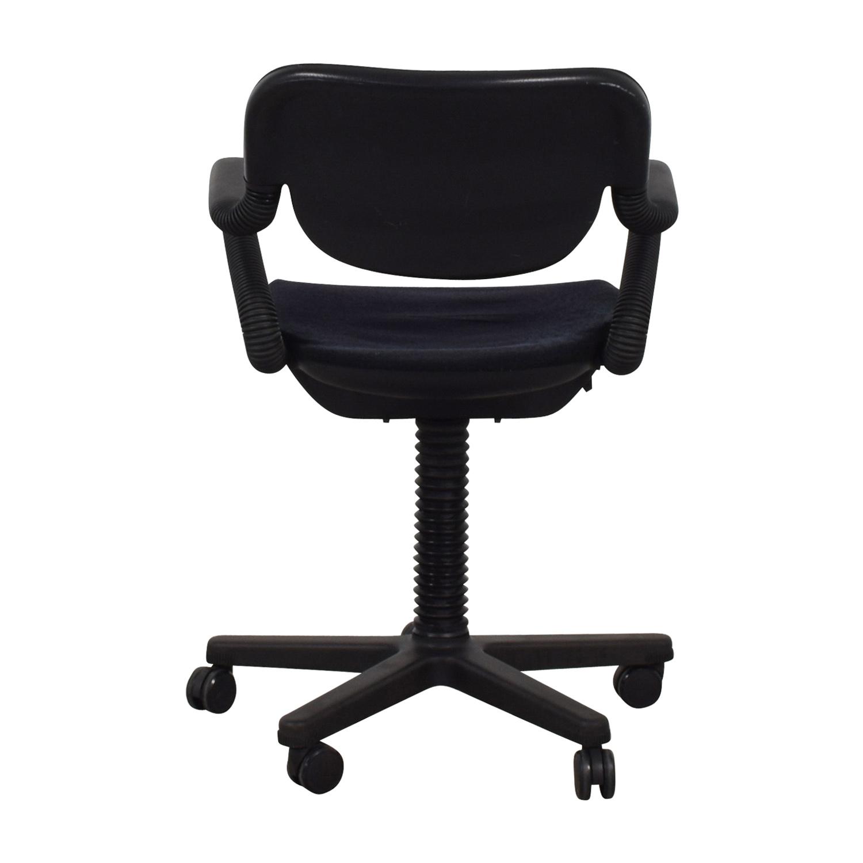 buy Vintage Black Desk Arm Chair  Chairs
