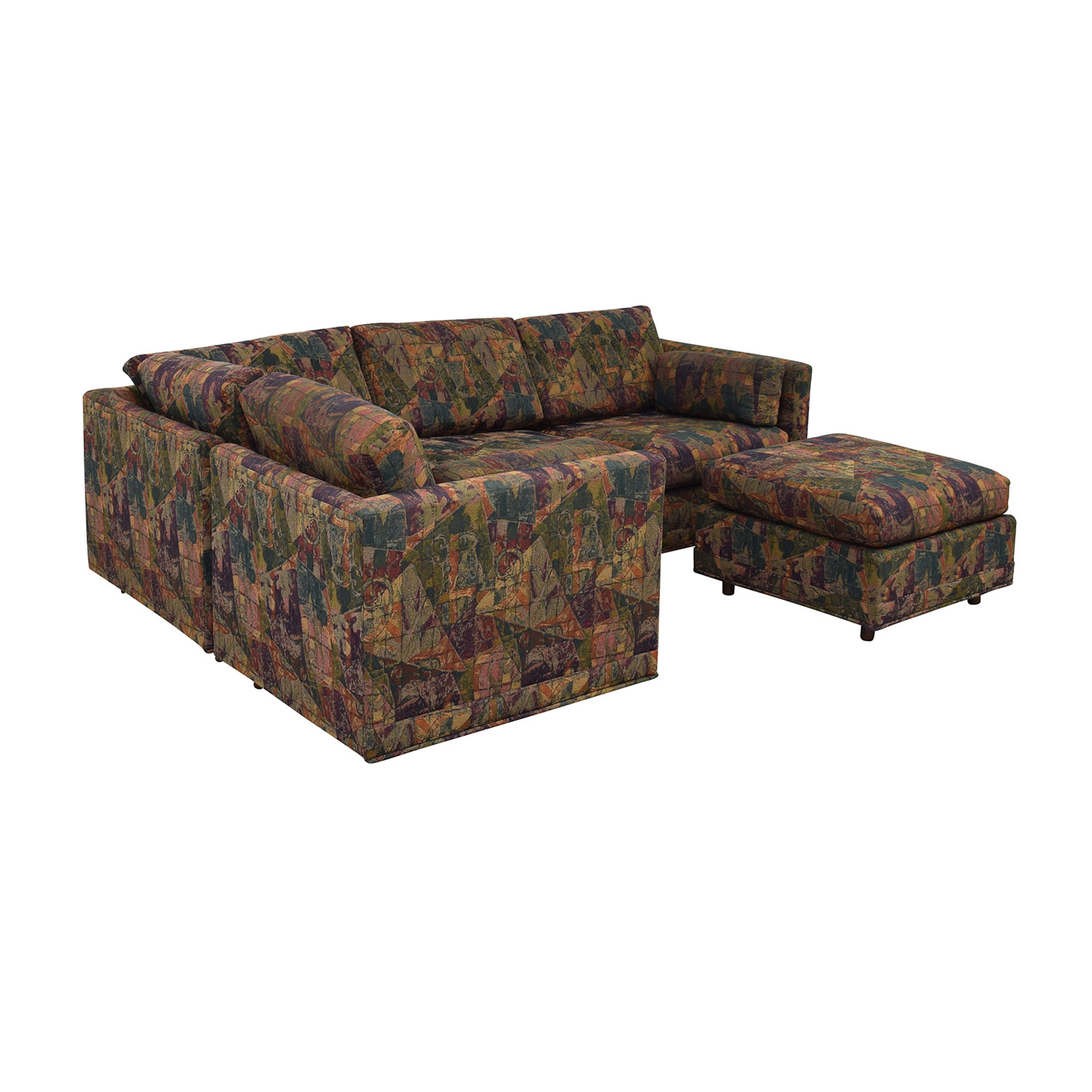 buy  Multi-Colored Sectional With Ottoman online