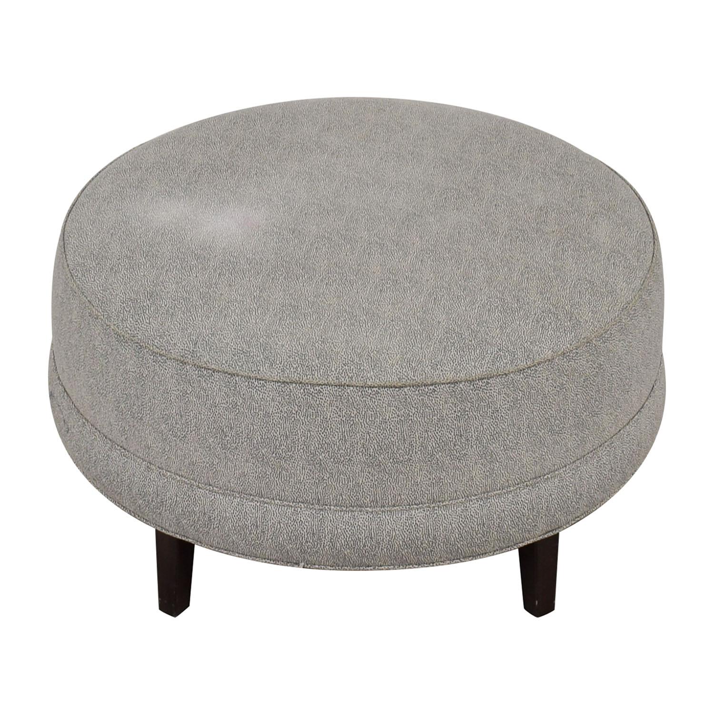 Ethan Allen Ethan Allen Grey Round Ottoman Chairs