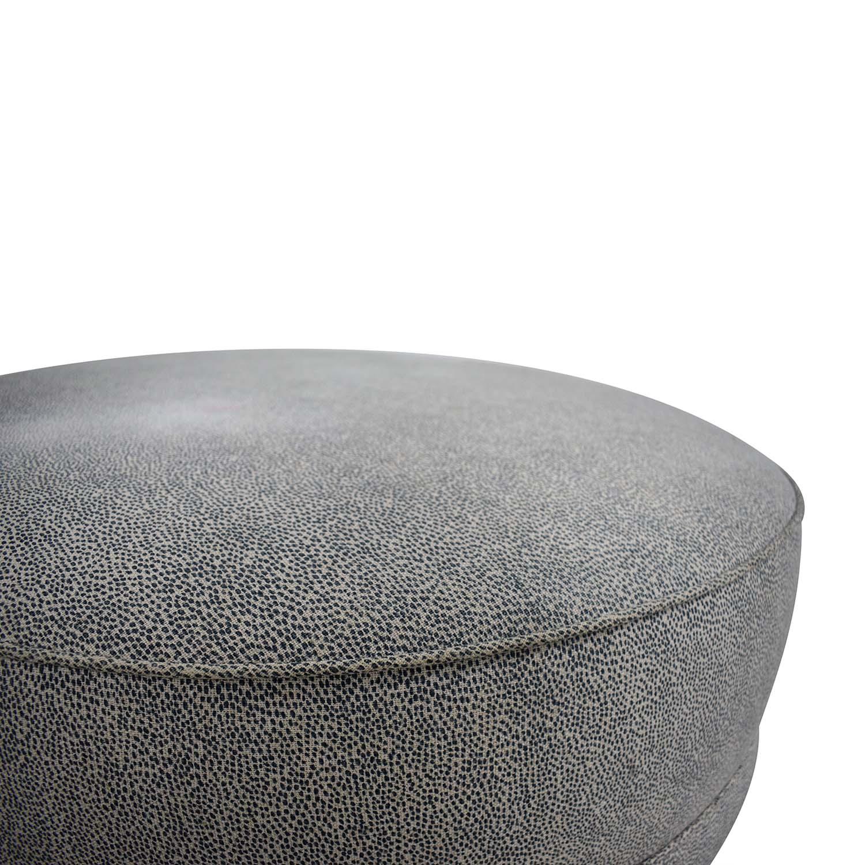 Ethan Allen Grey Round Ottoman / Chairs