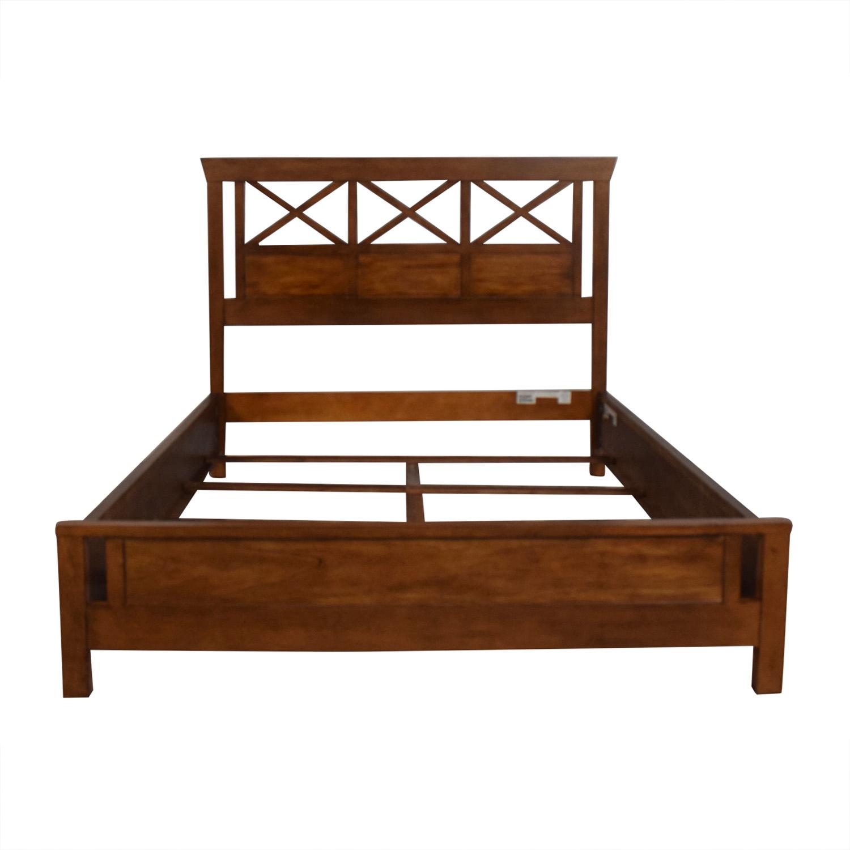 shop Ethan Allen Dexter Queen Bed Frame Ethan Allen Bed Frames