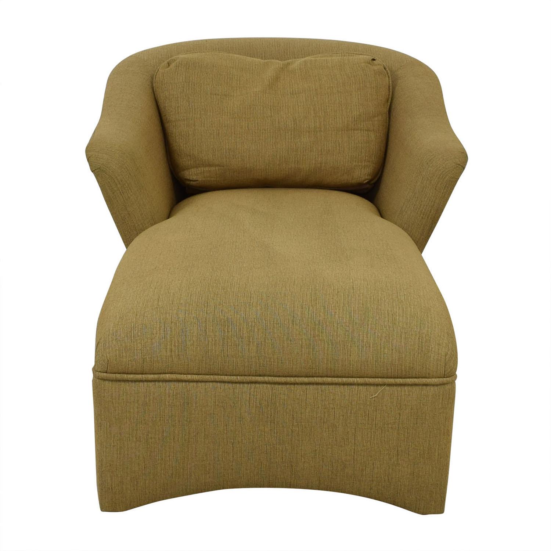 shop Beige Long Chaise Lounge  Chaises