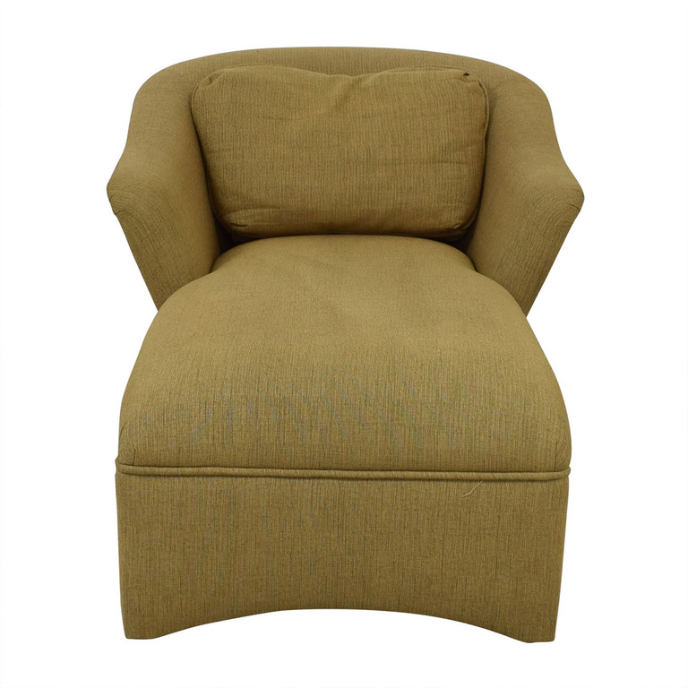 Beige Long Chaise Lounge used
